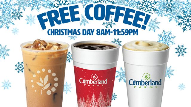 Cumberland Farms to offer free coffee on Christmas Day