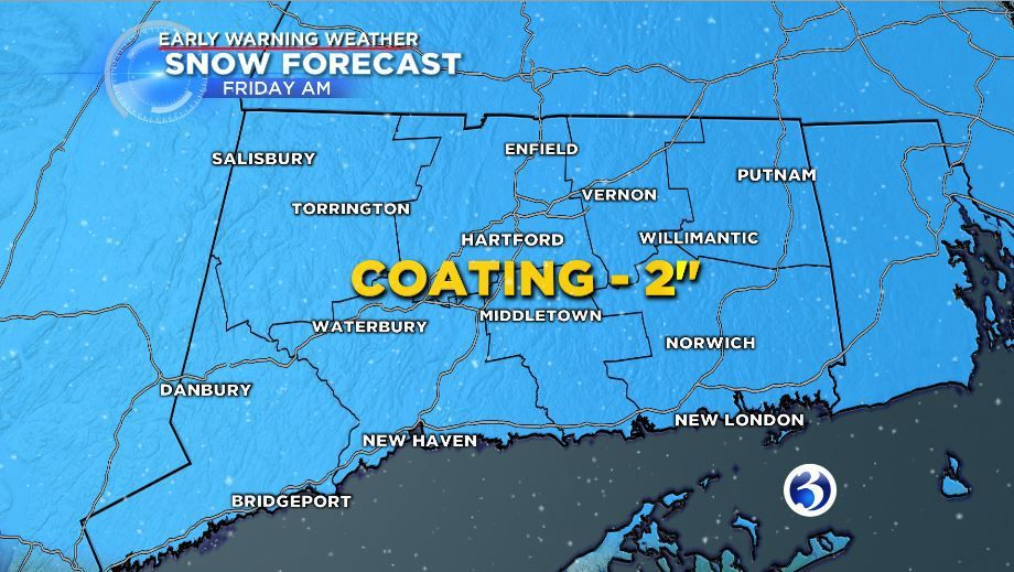 Snow expected to impact your Friday morning drive