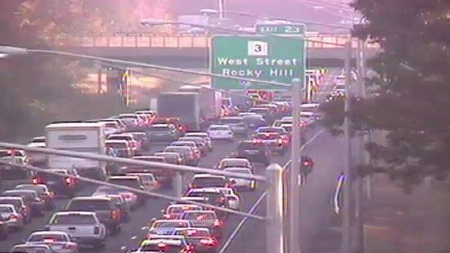 I-91 crash in Rocky Hill leads to delays of 8+ miles