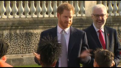 Prince Harry attends first public engagement since royal family crisis talks