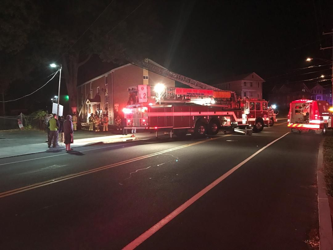 Person jumped from apartment building during fire in New Britain