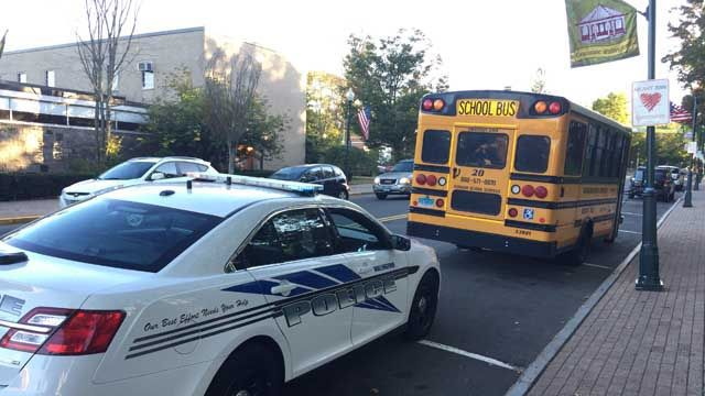 Person hit by school bus in Wallingford