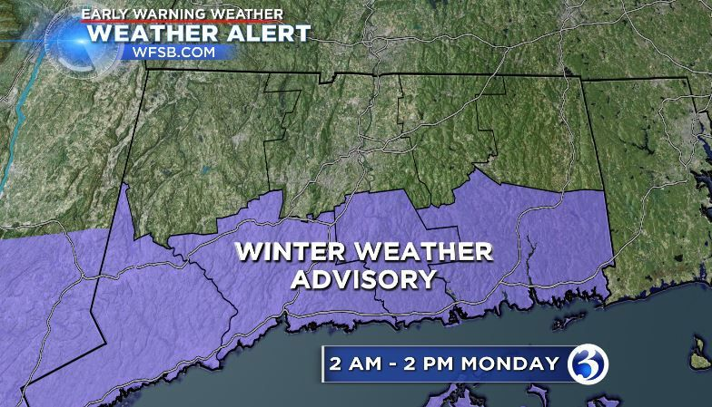 Snow due to arrive Monday morning, taper off in the afternoon