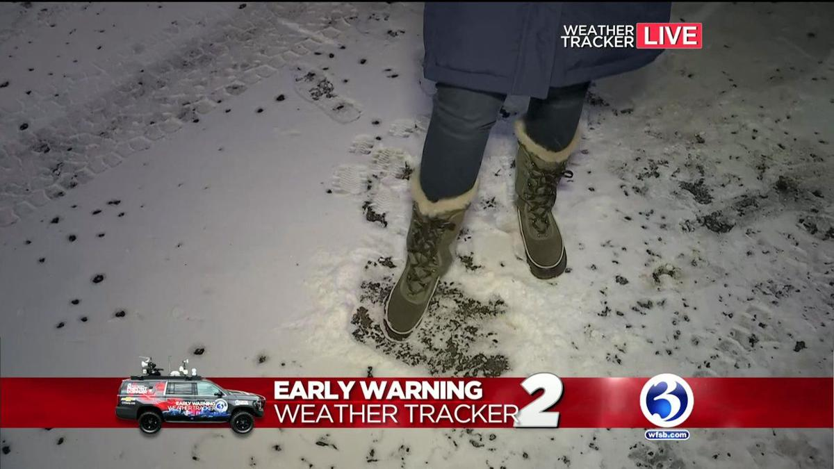 VIDEO: Weather Tracker 2 sees some snow in New Haven