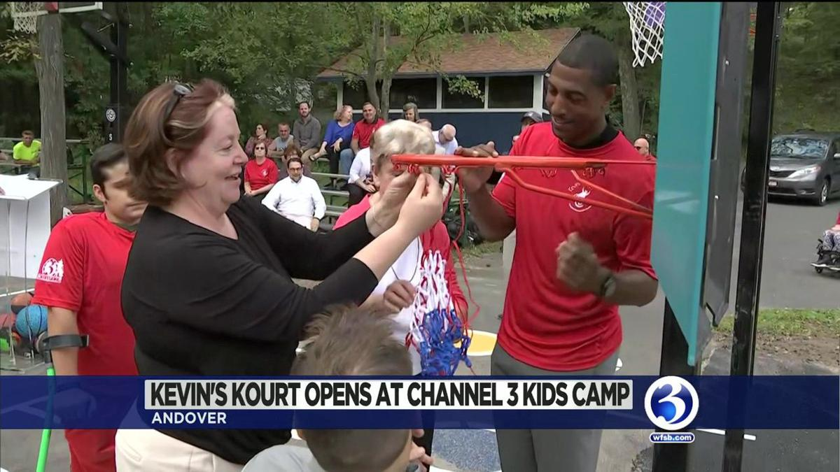 Video: Former UConn coach opens new basketball courts at Ch. 3 Kids Camp
