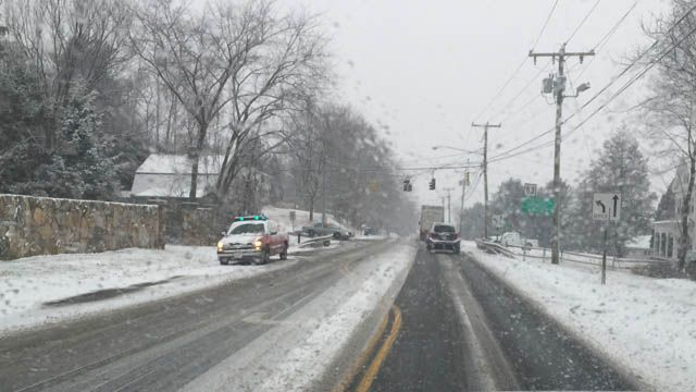 Slick driving conditions lead to crashes across the state