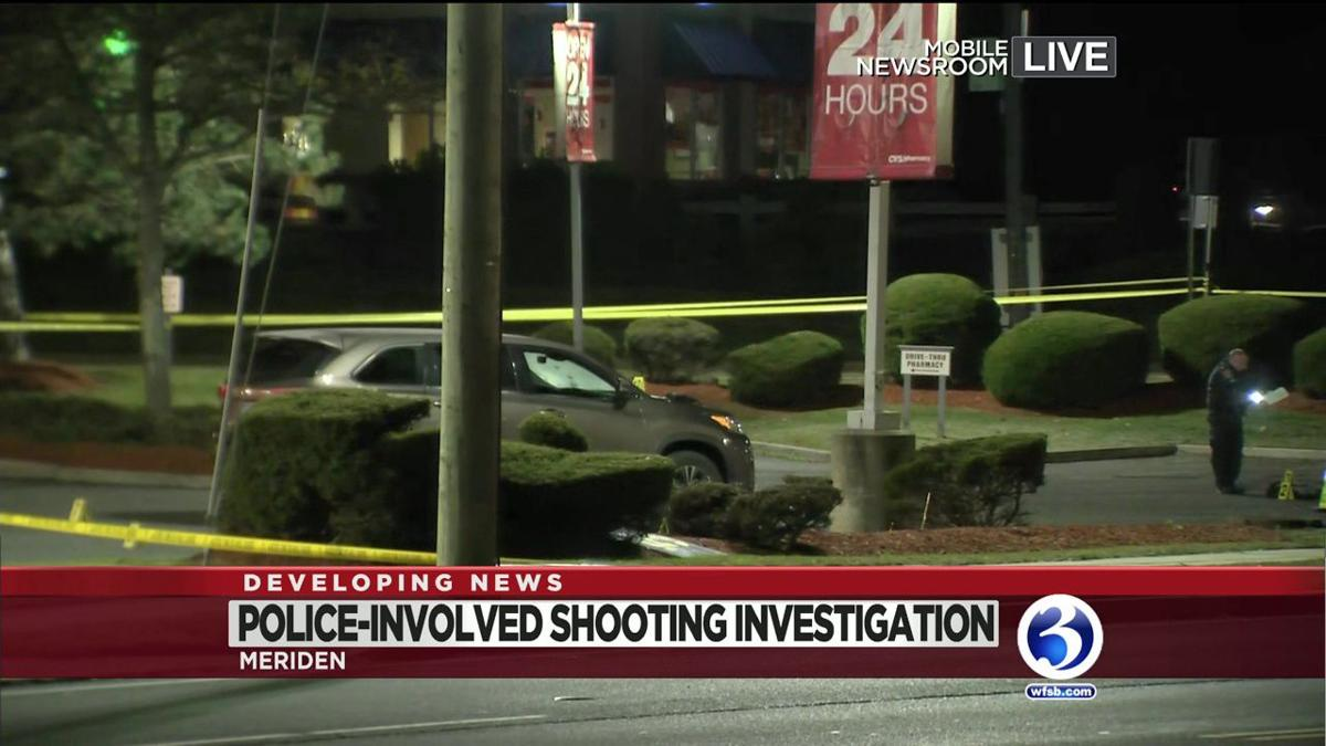 VIDEO: State police investigate Meriden officer-involved shooting.