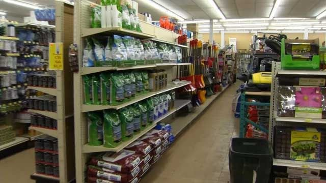 Signs of spring at the hardware store as winter looms