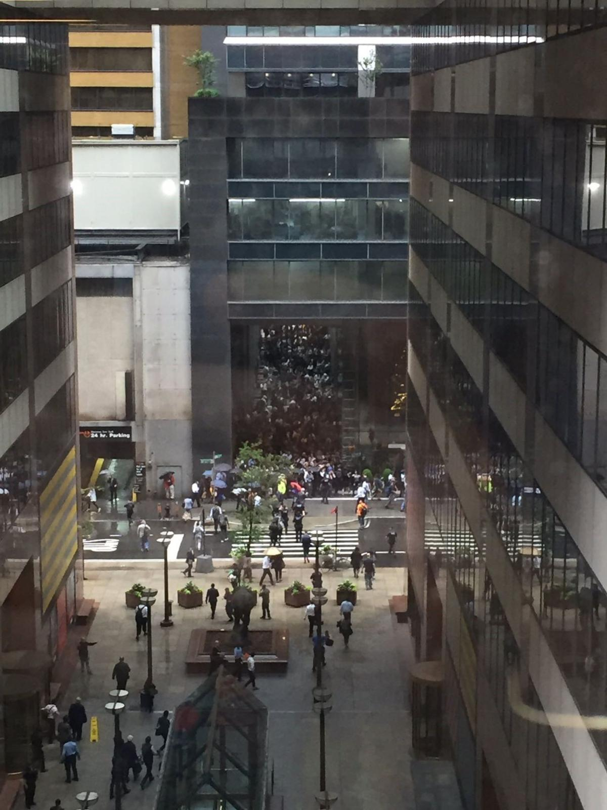 Scene after helicopter crash in NYC