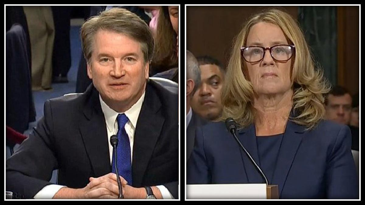 Image result for images of Kavanaugh and Ford