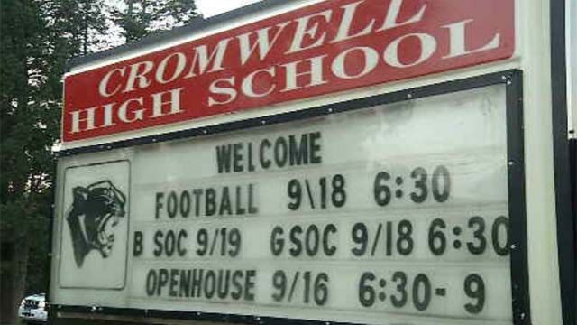 Student accused of making threat at Cromwell High School
