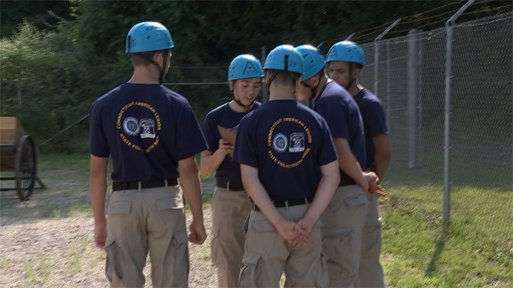 Cadets participate in Connecticut State Police Youth week