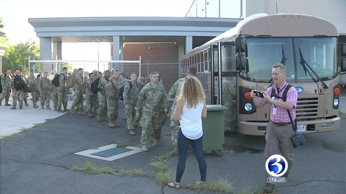 CT guardsmen depart Windsor Locks for Afghanistan deployment
