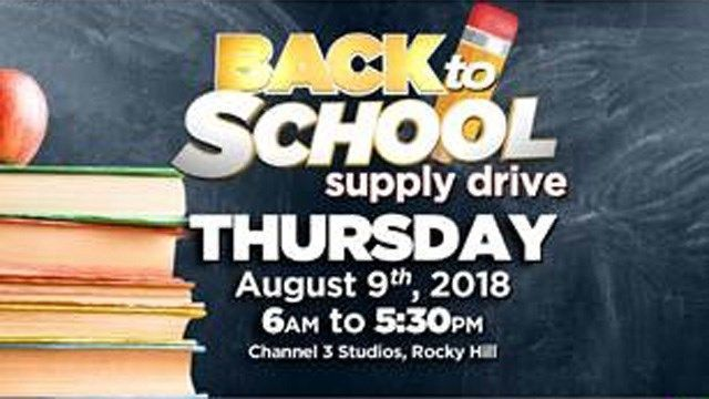 Channel 3 holds back-to-school supply drive