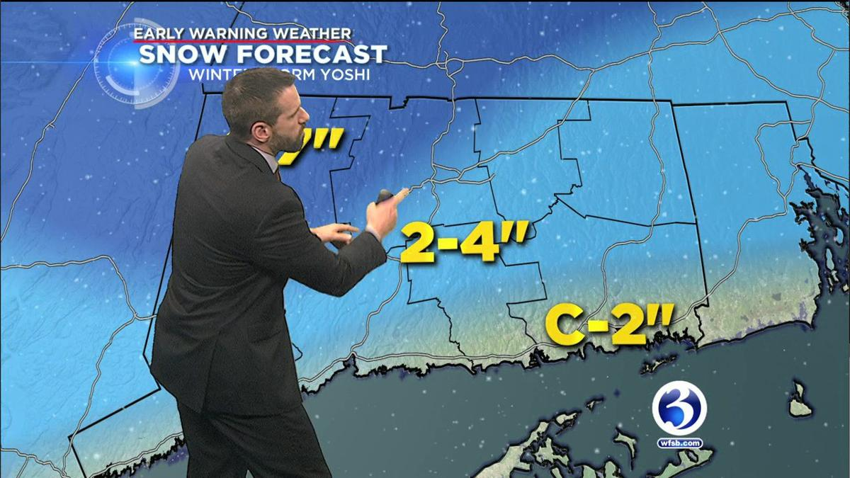 VIDEO: Winter Storm Yoshi makes its way into Connecticut on Saturday night