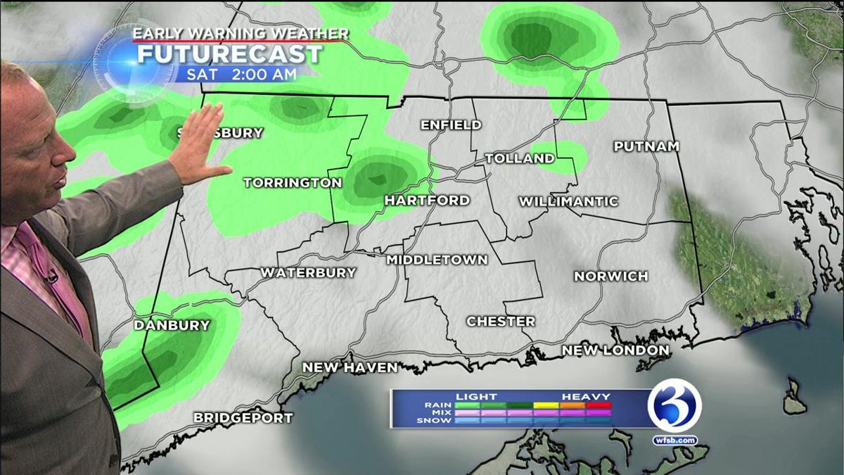 Showers to pop up overnight