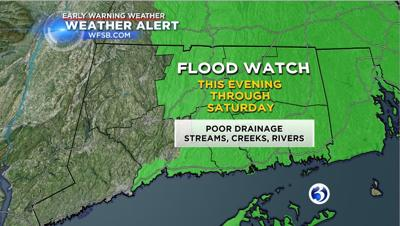 A Flood watch has been issued for part of Connecticut.