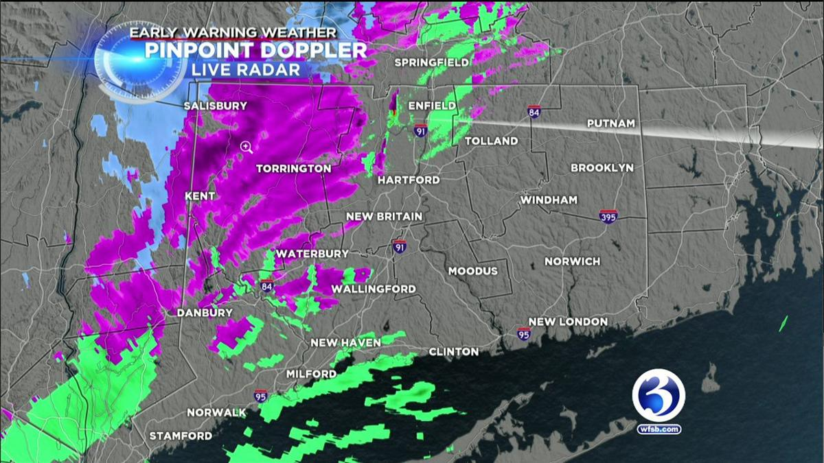 FORECAST: Tracking a band of snow in Litchfield County