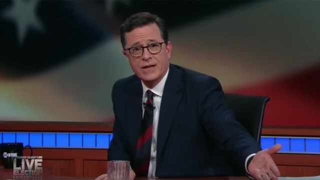 Stephen Colbert tries to make sense of the election