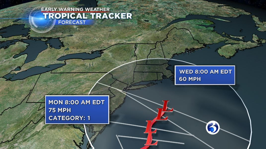 Tropical storm Hermine predicted to stay off the Connecticut coast