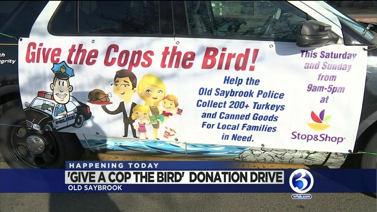 VIDEO: OLD SAYBROOK PD Food drive