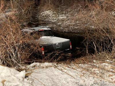 Car into water Deep River