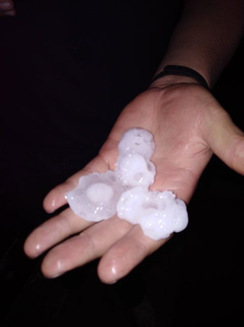 Granby area hit with large hail during severe storm