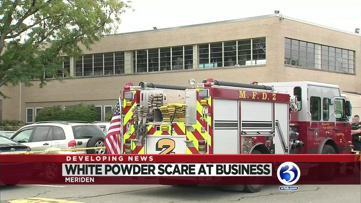 VIDEO: White powder scare at building in Meriden