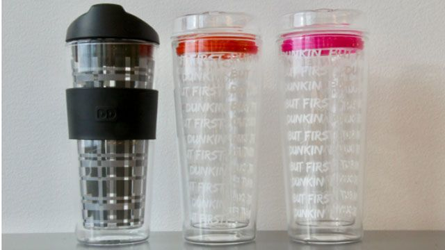 Dunkin Donuts issues recall for glass tumbler travel cup