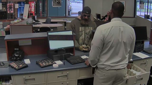 Bank robbery suspect arrested on motor vehicle offenses