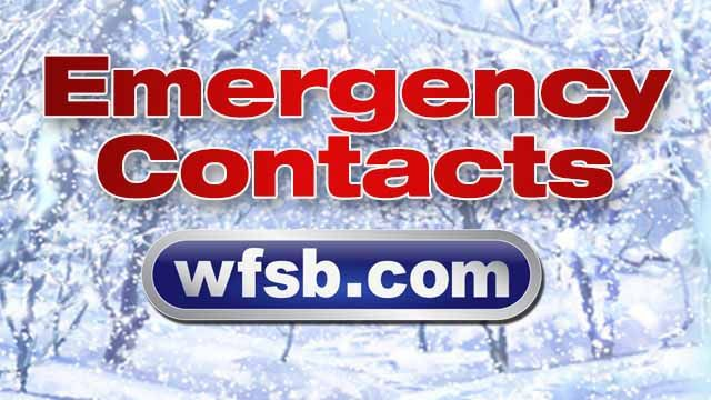 Emergency weather contact information