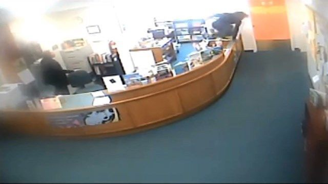 Derby police seek information on chase that led men into library