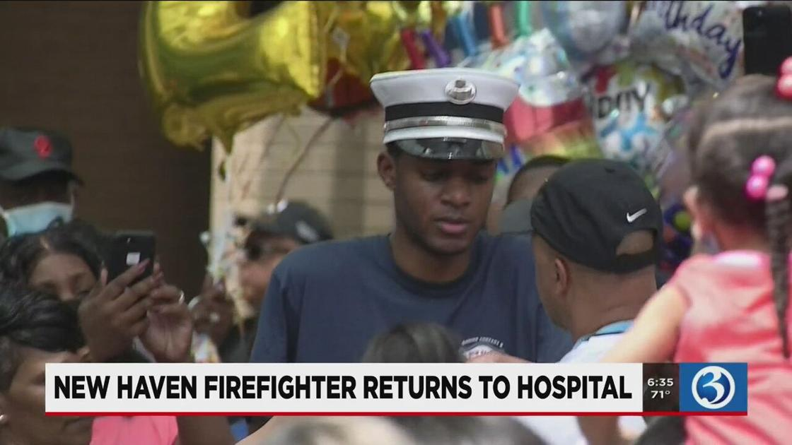 New Haven firefighter readmitted to hospital for lung complications
