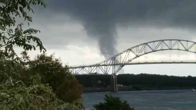 Video captures possible tornado, waterspout in Massachusetts