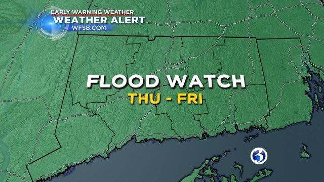 Heavy rain could lead to flooding on Friday