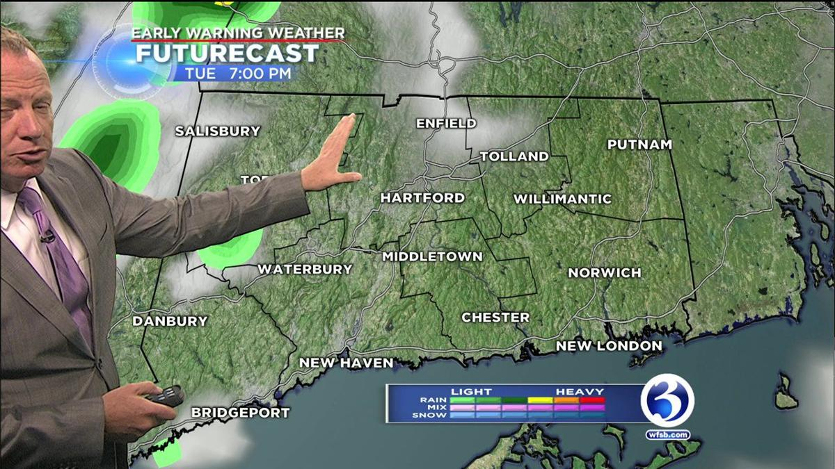 FORECAST: Scattered showers on Tuesday