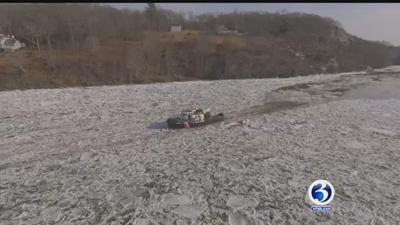 U.S. Coast Guard cutters and its crews back out clearing ice jam