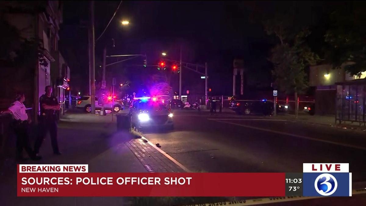 VIDEO: Officer shot in New Haven Monday night