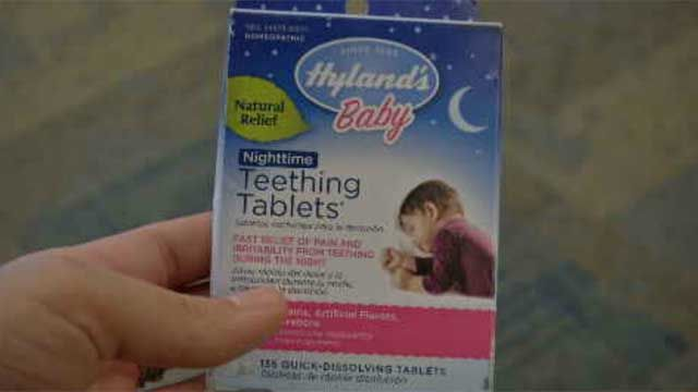 FDA warns parents about teething tablets