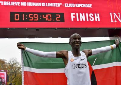 Kenya's Eliud Kipchoge smashes two-hour marathon barrier