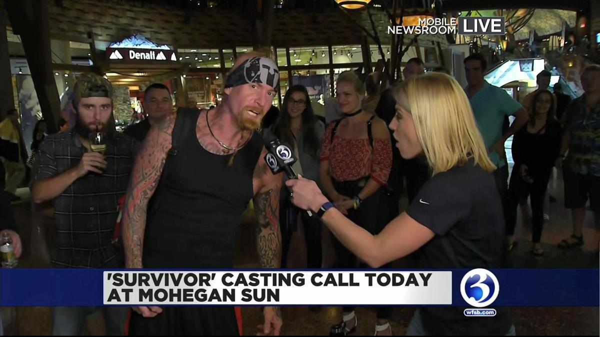 VIDEO: People line up for Survivor casting call