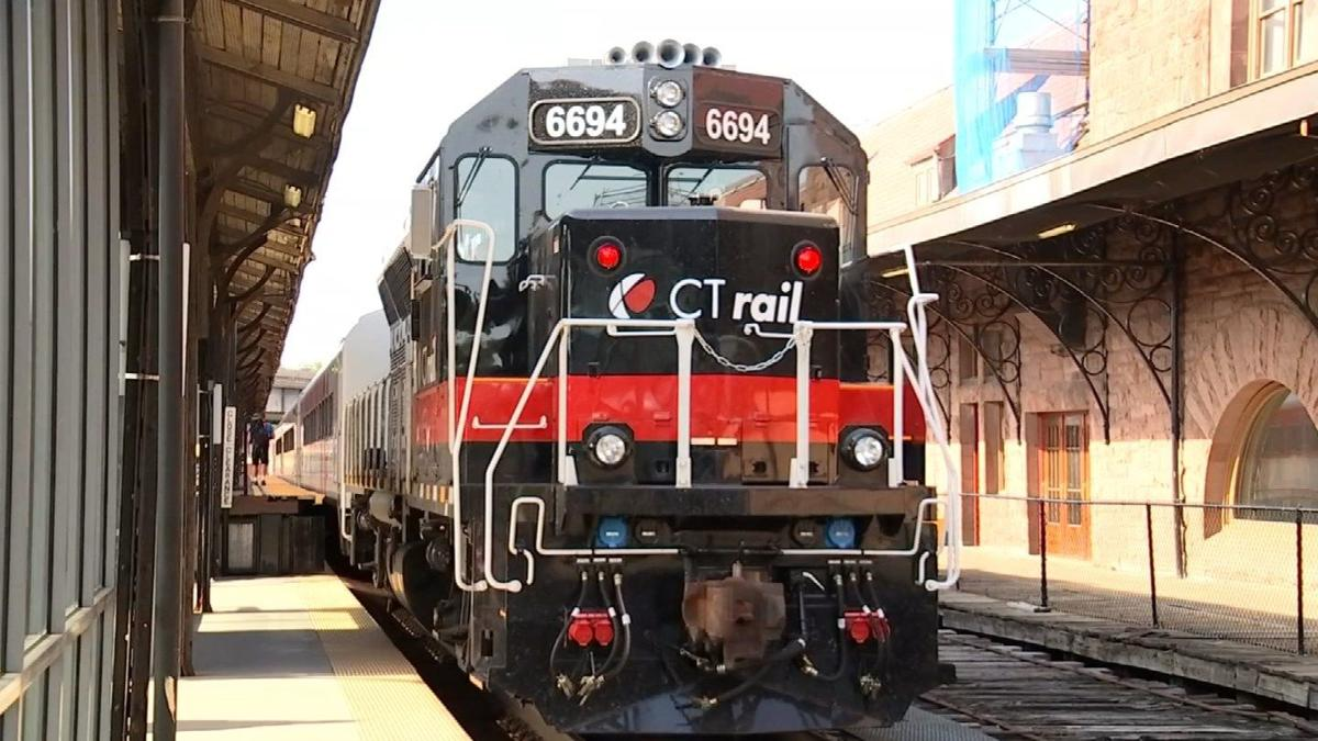 Riders board Hartford rail line on first official day of service