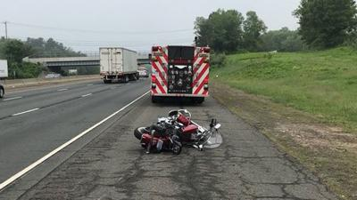 Motorcyclist hurt, deer killed in Willington collision