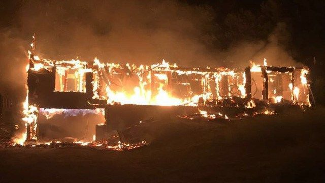 Vacant home in Stafford collapses during fire
