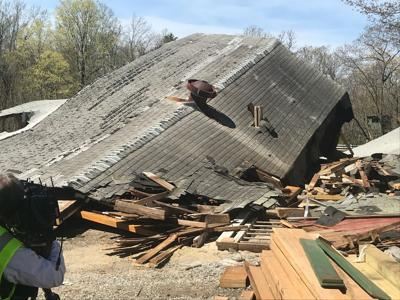 Bethany barn collapse
