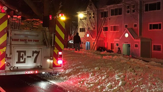 Two families displaced after large condo fire in Milford