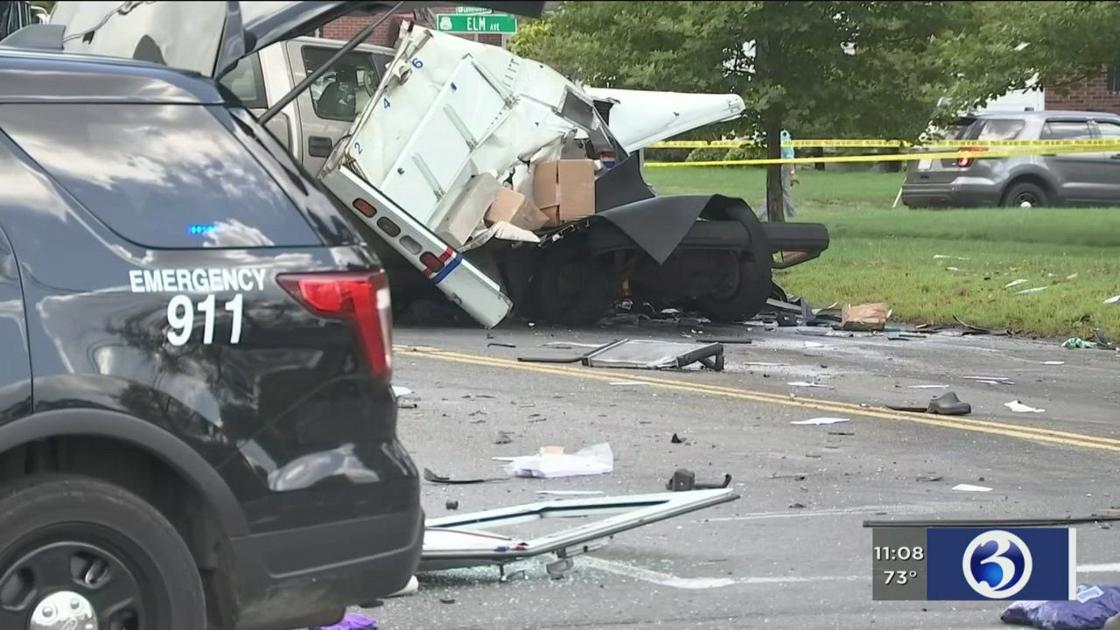 Victims of crash involving mail truck on CT/MA border identified - WFSB