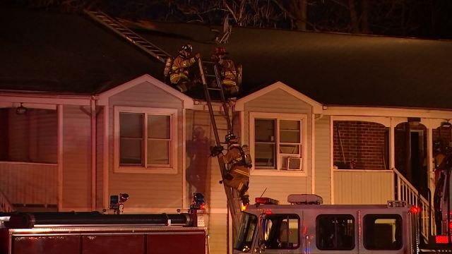 Crews fight fire in Vernon apartment building on Sunday
