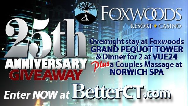 Rules for WFSB Foxwoods 25th anniversary sweepstakes