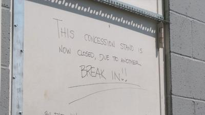 Little league concession stand closed after vandalism